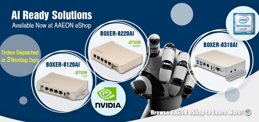 AAEON AI deep learning by NVIDIA Jetson TX2 | Jetson Nano | Intel Movidius