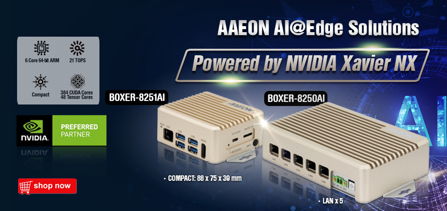 AAEON NVIDIA Jetson Xavier NX | BOXER-8251AI