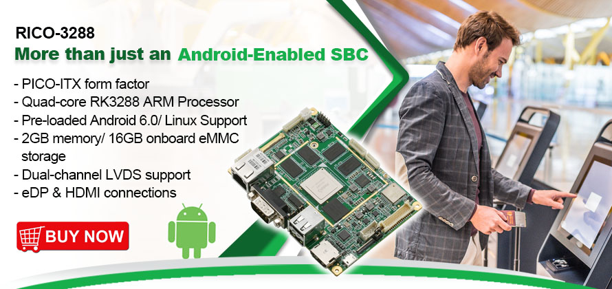 PICO-ITX fanless board | RICO-3288