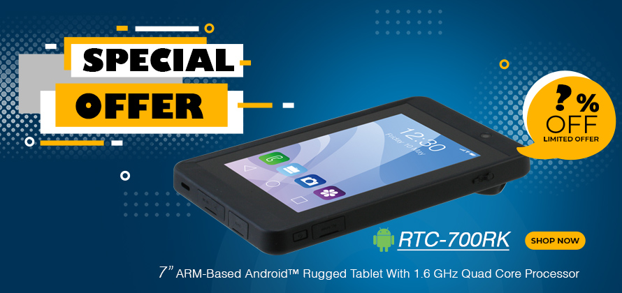 "7""  Android rugged tablet 